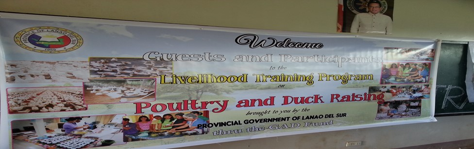 GENDER AND DEVELOPMENT (GAD) PROGRAMS OF THE PROVINCIAL  GOVERNMENT OF LANAO DEL SUR